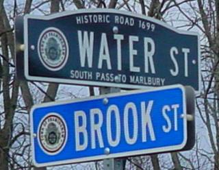 New Street Sign - Historic Water Street / Brook Street