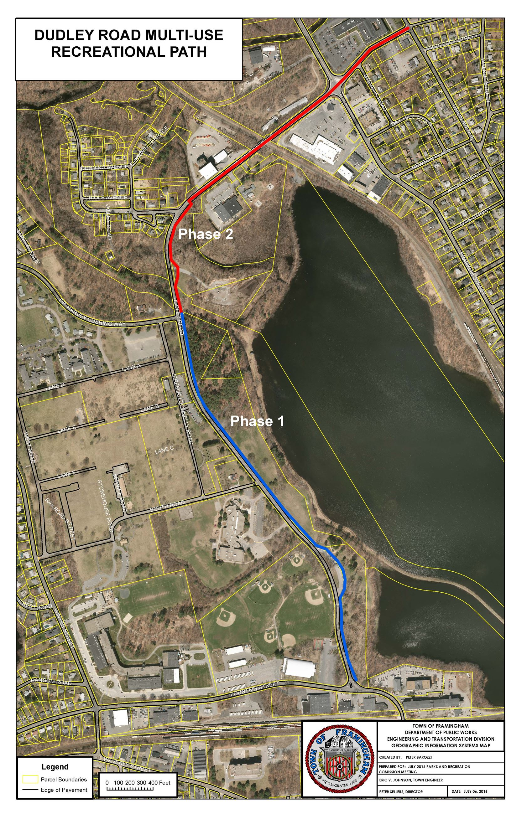 Dudley Road Multi-Use Path Map - Approximate Phasing