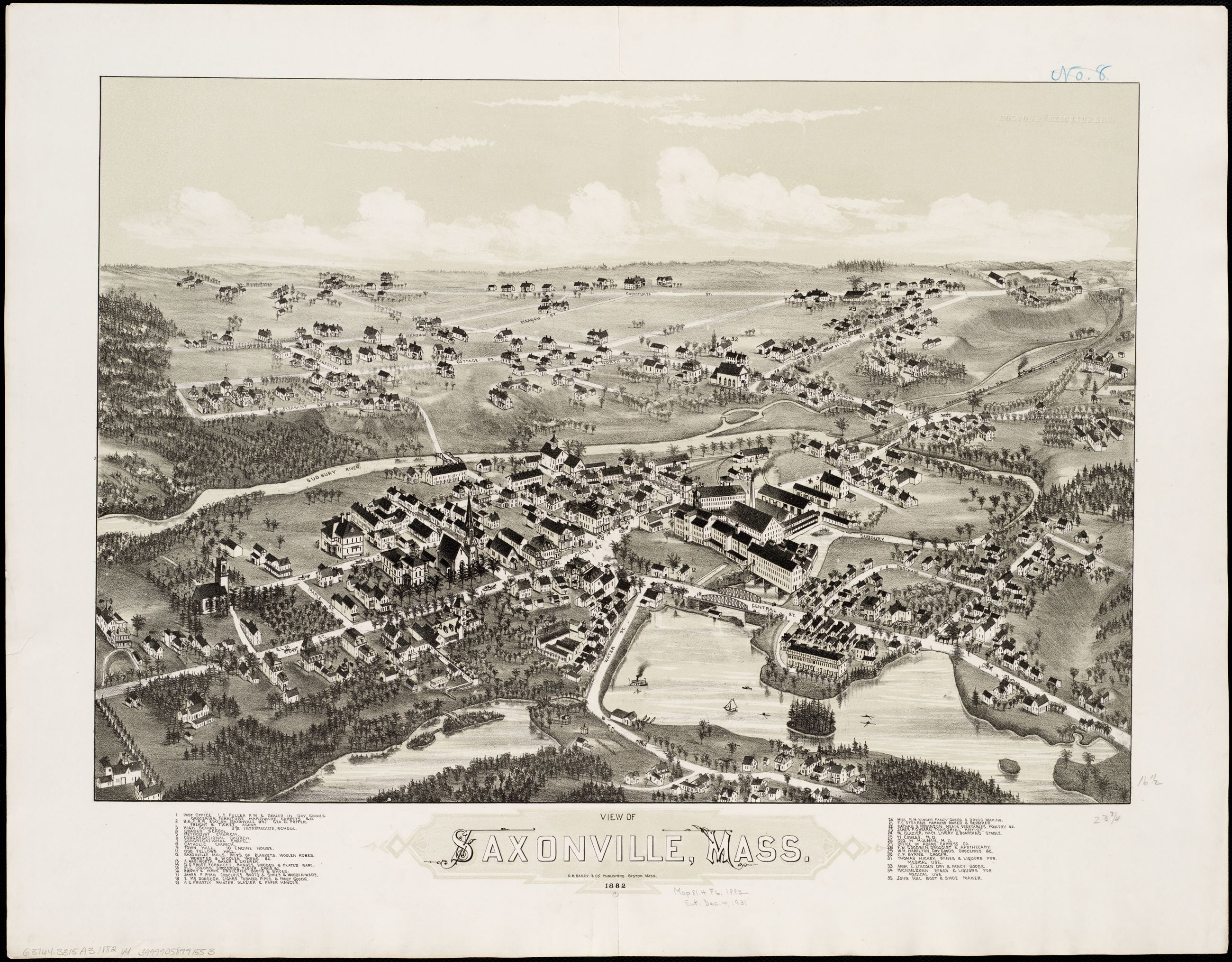Birds Eye View Saxonville 1882