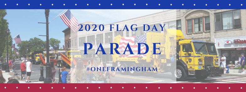 banner for the flag day parade 2020