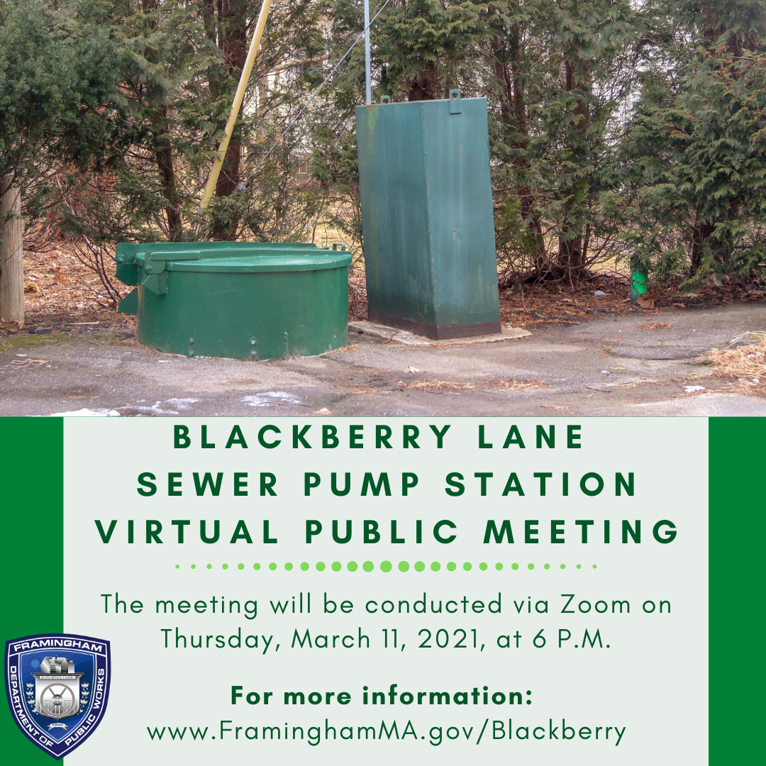 Blackberry Pump Station Graphic - Image of a sewer pump station with event details