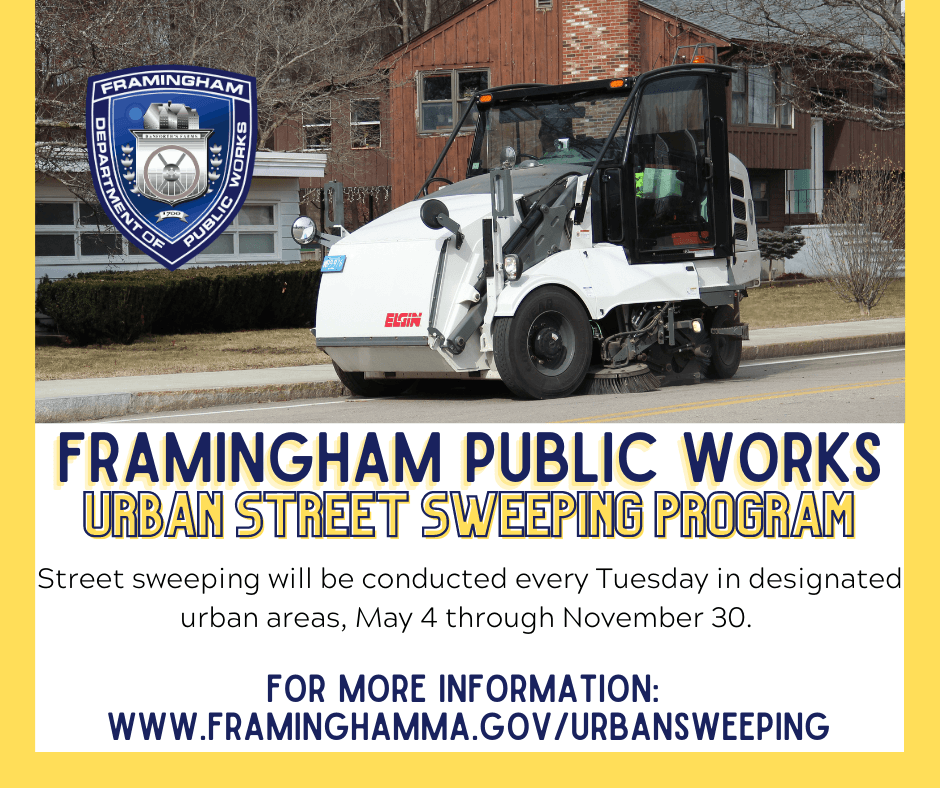 Framingham DPW Urban Street Sweeping Program