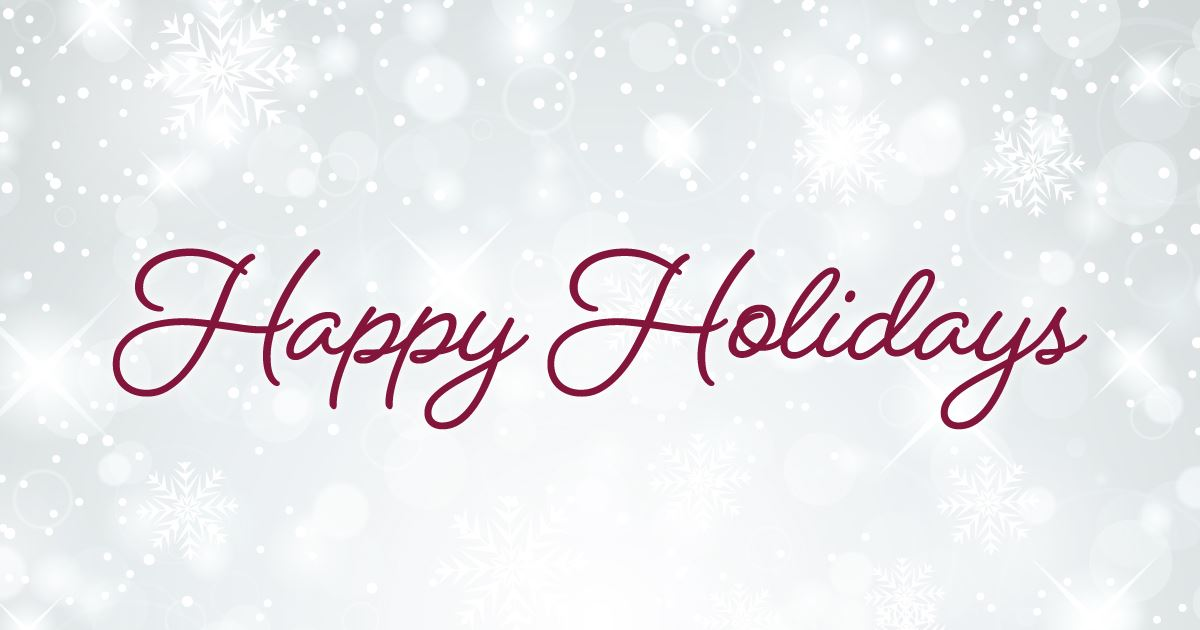 happy holidays banner with white background