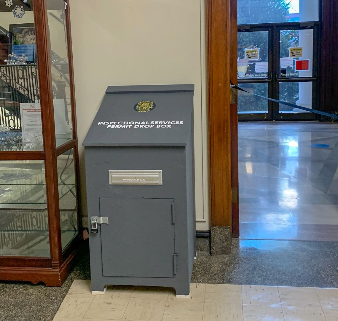 Image of a large grey Drop Box